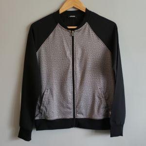 Olsen Grey Black Medium Light Bomber Jacket